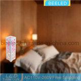卓上スタンド夜は寝室表ライトのための3W Plnkカラー陰夜ライトの中のLEDをつける