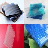 Folha protegida UV Anti-Fog da cavidade do policarbonato de quatro paredes para a estufa