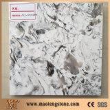 아름다운 백색 석영 색깔 단단한 지상 석영 돌 격판덮개