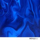 Film imprimable hydrographique large d'impression de transfert de l'eau du modèle PVA de flamme de Kingtop 1m pour le plongement hydraulique avec la couleur de bleu rouge Wdf9057