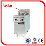 Frigideira profunda de aço inoxidável estilo livre, Fritadeira de batata de peixe de frango comercial fabricada na China