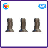 Cinquefoil do carbono Steel/4.8/8.8/10.9 M3/Galvanized/flor da ameixa/parafuso principal escareado para prendedores eletrônicos/maquinaria/indústria