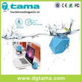 Haut-parleur imperméable à l'eau MIC intrinsèque de Bluetooth d'hexagone bleu avant-gardiste de forme mini