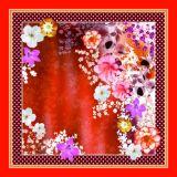 Bella sciarpa di seta stampata Digitahi (F13-0020)