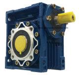 Doppeltes Welle-Endlosschrauben-Getriebe-Silber und blaue Farbe