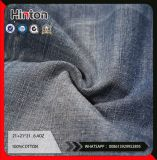 Factory Supply 21s Sateen Cotton Denim Fabric 6.4oz Dark Color