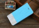 Cas en bois de téléphone mobile de chiquenaude de folio de Kickstand de caisse neuve de pochette