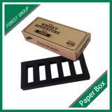 Contenitore nero di carta kraft Di marchio con l'inserto della gomma piuma