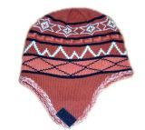 Jacquard que faz malha o chapéu de Earflag (JRK190)