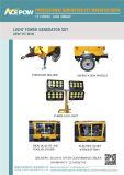4개의 LED 등대를 가진 5kVA 휴대용 디젤 엔진 발전기