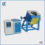 inducción eléctrica 20kg que inclina el horno fusorio del horno de fusión del oro