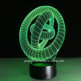 最も新しいアクリル3D LED夜ライト- 3D錯覚の電気スタンド