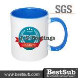 Сублимация покрытий Js Mugs внутренняя кружка цвета оправы 11oz - свет - голубое B11taa-07