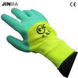 La mousse de latex en polyester enduite Gant de travail de la sécurité de protection du travail