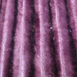 Pv-Plüsch-Sofa-Gewebe mit auftragenden Streifen