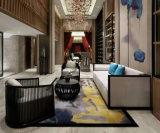 고전적인 호텔 대중음식점 로비 가구 나무로 되는 직물 가죽 소파