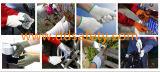 Ddsafety 2017 ha lavorato a maglia il guanto punteggiato PVC bianco naturale di colore giallo del guanto del cotone