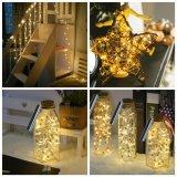 La última 1AA luz diseñada de la cadena del cobre del corcho de la botella de vino de la batería 3m30LED para la decoración del hogar/del día de fiesta/de la Navidad