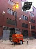 Tour d'éclairage mobile inférieure de la consommation DEL pour le mien employant