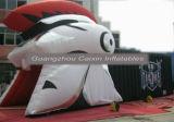 Traforo gonfiabile della mascotte del cavaliere di gioco del calcio di promozione per il gioco di sport
