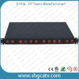 Faible coût économique de montage en rack 48 ports du panneau de brassage à fibres optiques (FPP-E-FC48)