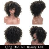 """머리 브라질 비꼬인 꼬부라진 짧은 가발 8 """" 10 """"는 염색한 가득 차있는 310g 100%년 Remy 사람의 모발 가발 자연적인 까만 색깔일 수 있다"""