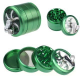 4 Layer Hand Smoke Detector Grinder Herb