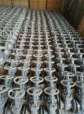 Russische de poortklep uit gegoten staal van het EIND van Normen PN16 VAN EEN FLENS VOORZIEN