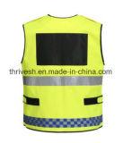 EUの標準高い可視性の自己の袋が付いている反射安全ベスト