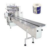 Máquina de embalagem do papel de rolo do toalete para a máquina de empacotamento sanitária do tecido