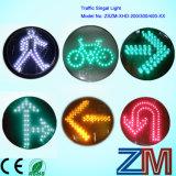 Sinal cheio Certificated En12368 do módulo da luz de sinal do tráfego da esfera do vintage do diodo emissor de luz/diodo emissor de luz com lente