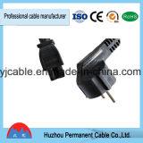 Fabricante retráctil de pequeña potencia europea enchufe del cable de extensión