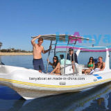 Liya 22ft Rib Fiberglass Hull Inflatable Boat Fashion Rib Boat da vendere