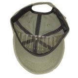 Usada gorra de béisbol apenada de la arandela con insignia bordada