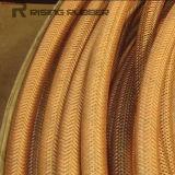 De superficie lisa manguera de aire de goma con la materia textil trenzado