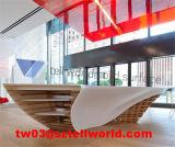 Herrenfriseur-System-Form-Entwurfs-Zahlschalter-Schwarzweiss-Salon-Kostenzähler, Marmorempfang-Schreibtisch