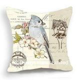 装飾の正方形の鳥デザイン装飾ファブリッククッションW/Filling