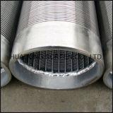 Filtro para pozos continuo del agua del alambre de la cuña de las pantallas de Wraped del alambre del acero inoxidable V de la ranura de Johnson