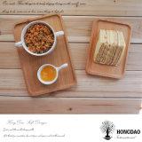 Bandeja de madera natural por encargo del color de Hongdao para el precio al por mayor del postre del desayuno _E