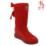 Ботинки мягкой зимы шерстей шерсти Колен-Высокие с украшением Bowknot (BT702)