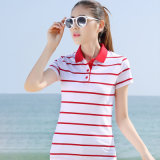 2016 China Factory Wholesale Custom Ladies Stripe Polo