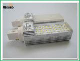 G24 dell'indicatore luminoso di lampadina del PLC di 6W LED con la base rotativa