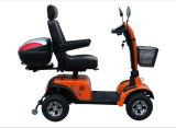 Autoped van de Mobiliteit van vier Wielen de Elektrische met AchterDoos