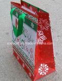 Saco de papel do presente da promoção do Natal para a compra