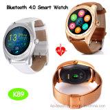 전체가 다 보이는 둥근 스크린 (K89)를 가진 Bluetooth 가장 새로운 지능적인 시계