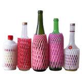 Melhor qualidade de garrafa de vinho de vidro Embalagem Use plástico proteção manga Net