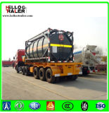 반 중국 사람 3 차축 40FT 거위 목 모양의 관 해골 포좌 콘테이너 트럭 트레일러