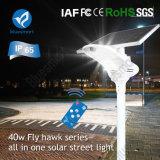 Indicatore luminoso di via solare astuto di angolo registrabile 40W LED