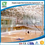 A estrutura de aço do Prédio do Centro de Desportos aquáticos