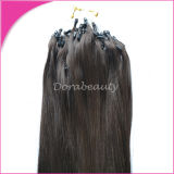 0,8 g/ Strand Jet Black Indian Remy Hair Extensions de cheveux de boucle Cold Fusion